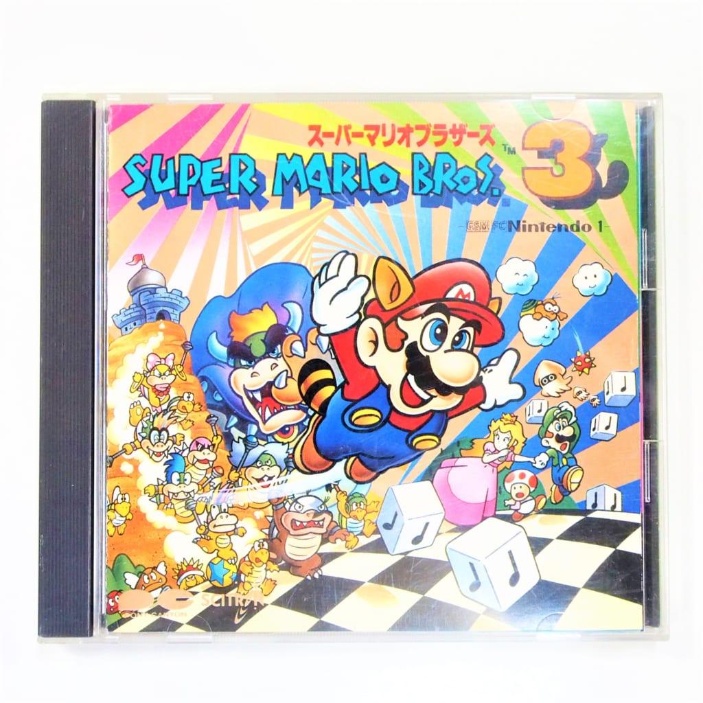 買取したスーパーマリオブラザーズ3 オリジナルサウンドトラックCDの表紙