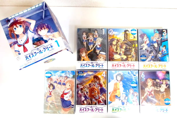 ハイスクール・フリート 全6巻&OVA 限定版セットブルーレイ 高価買取!