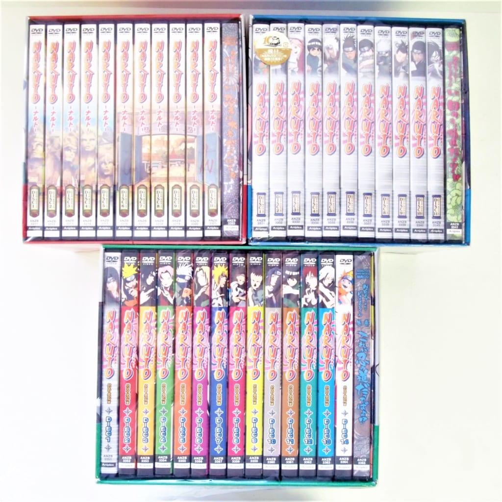 DVD-BOX NARUTO ナルト I&II&IIIセット 参上!うずまきナルト 始動!木ノ葉崩し 激突!ナルトVSサスケ 未開封有