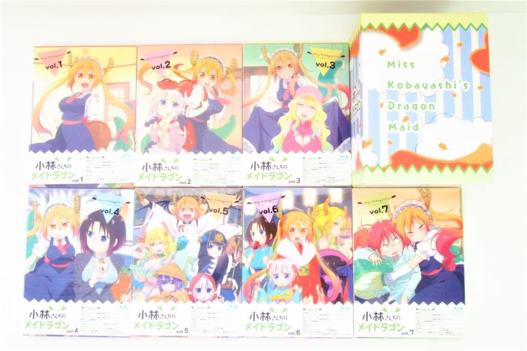 小林さんちのメイドラゴン 初回版 Blu-ray 全7巻セット高価買取!