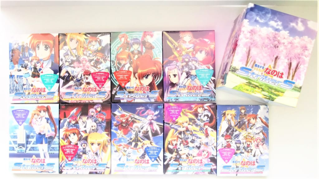 魔法少女リリカルなのはStrikerS DVD 初回版 全9巻セット高価買取!