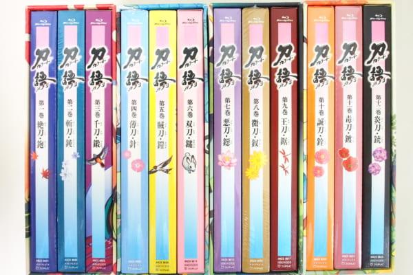 刀語 Blu-ray 完全生産限定盤 BOX付き全12巻セット高価買取!