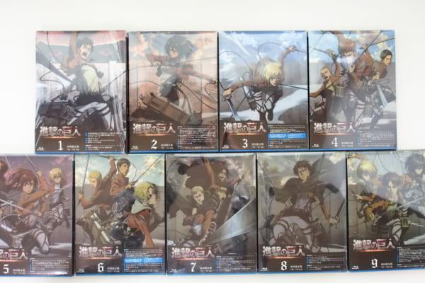 進撃の巨人 Season1 Blu-ray 全9巻セット 高価買取!